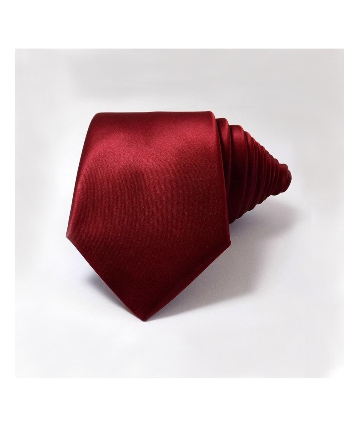 Cravate Rouge en satin