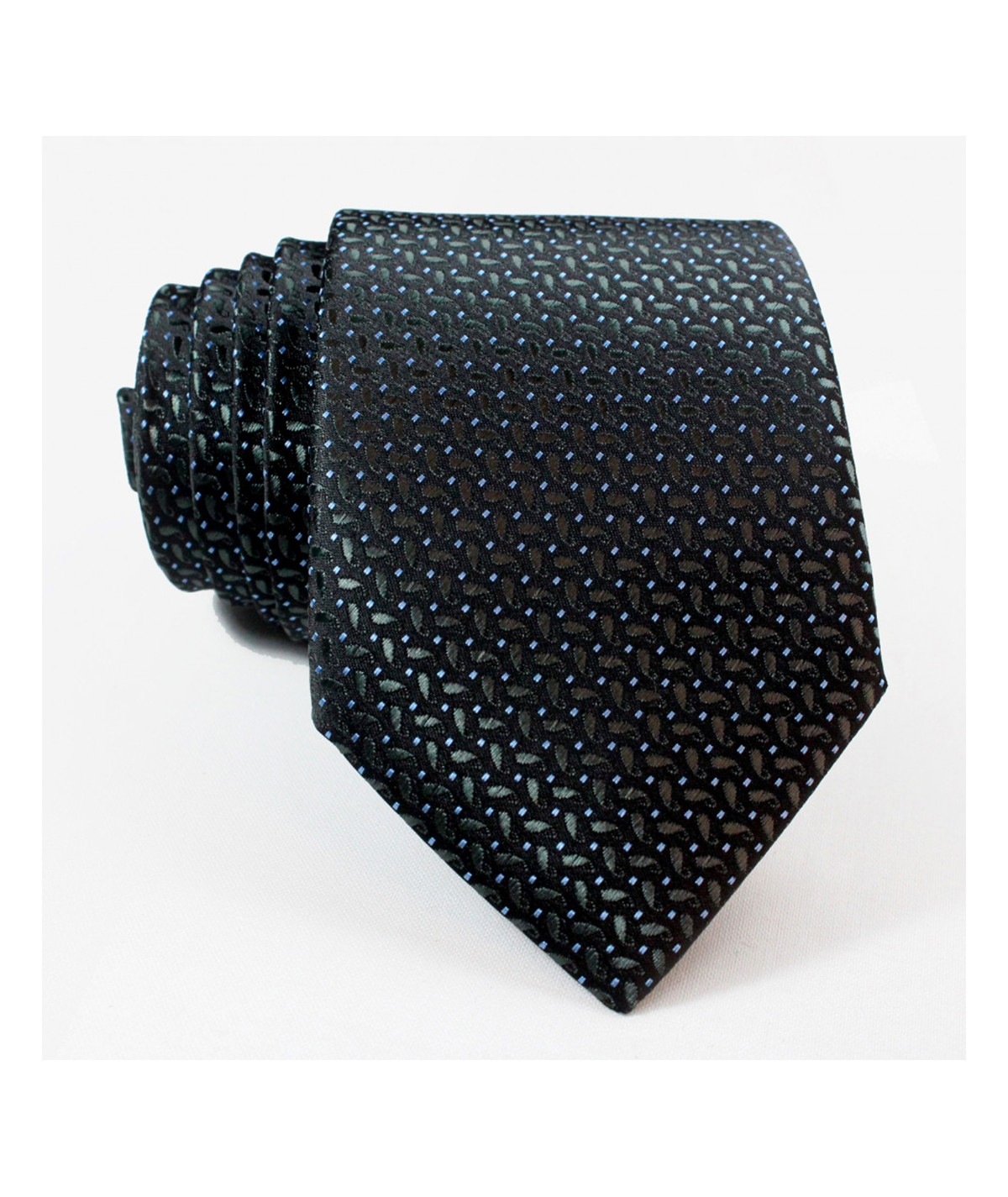 Cravate texturé en Bleu