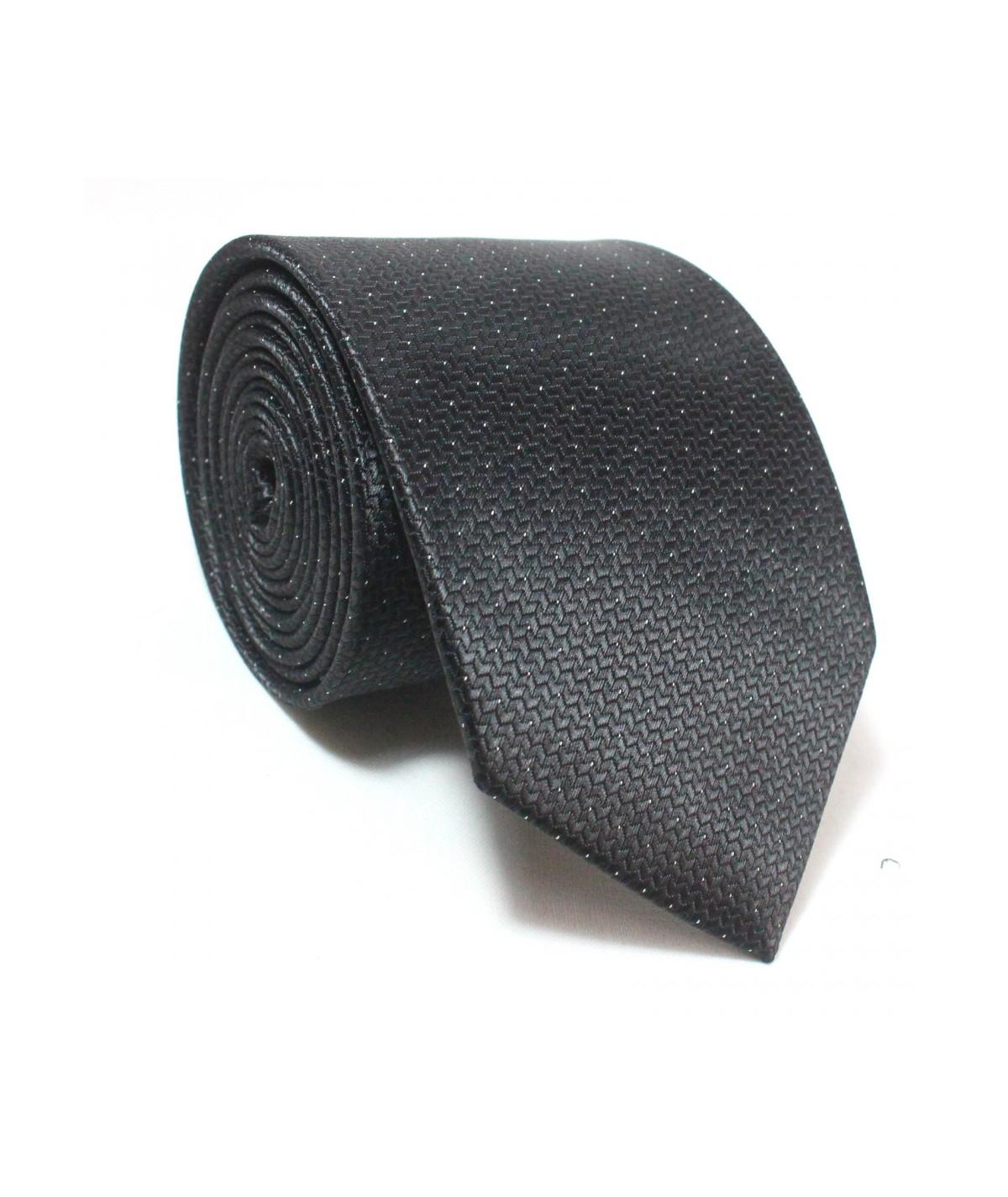 Cravate texturé Noire