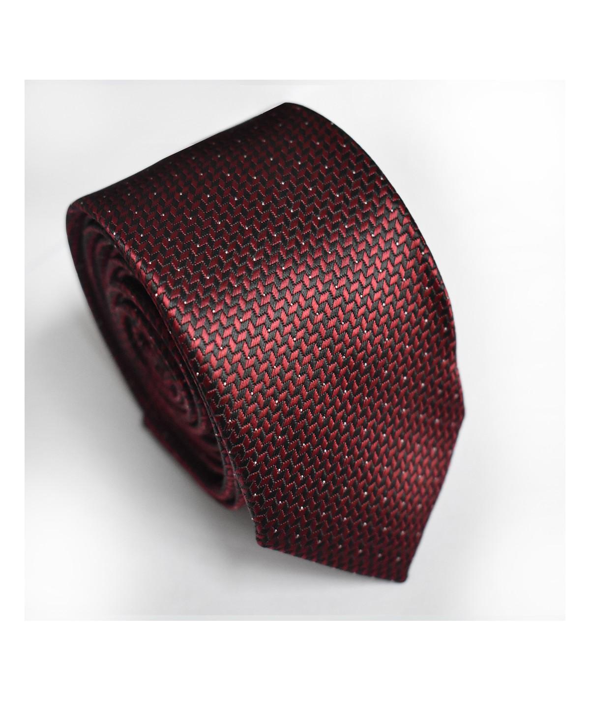 Cravate Rouge Bordeaux