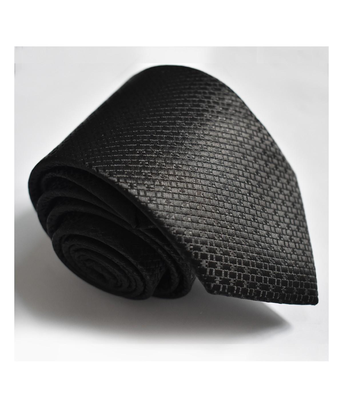 Cravate Noire Texturée