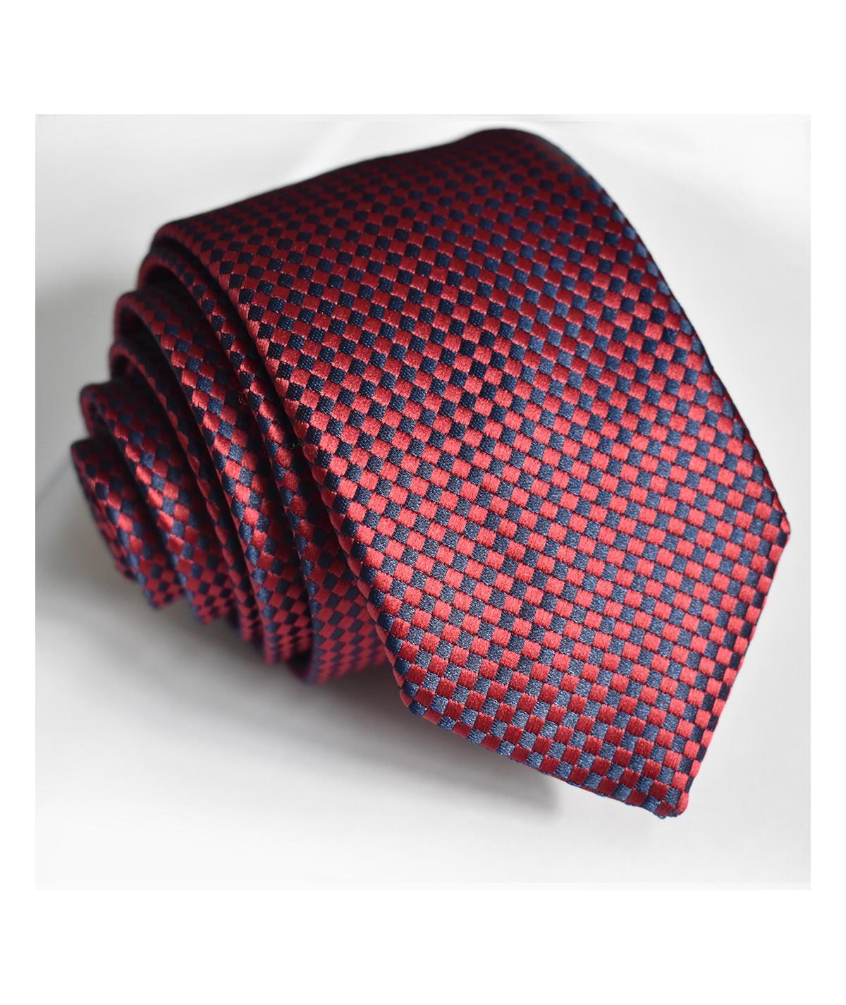 Cravate à motif Bleu