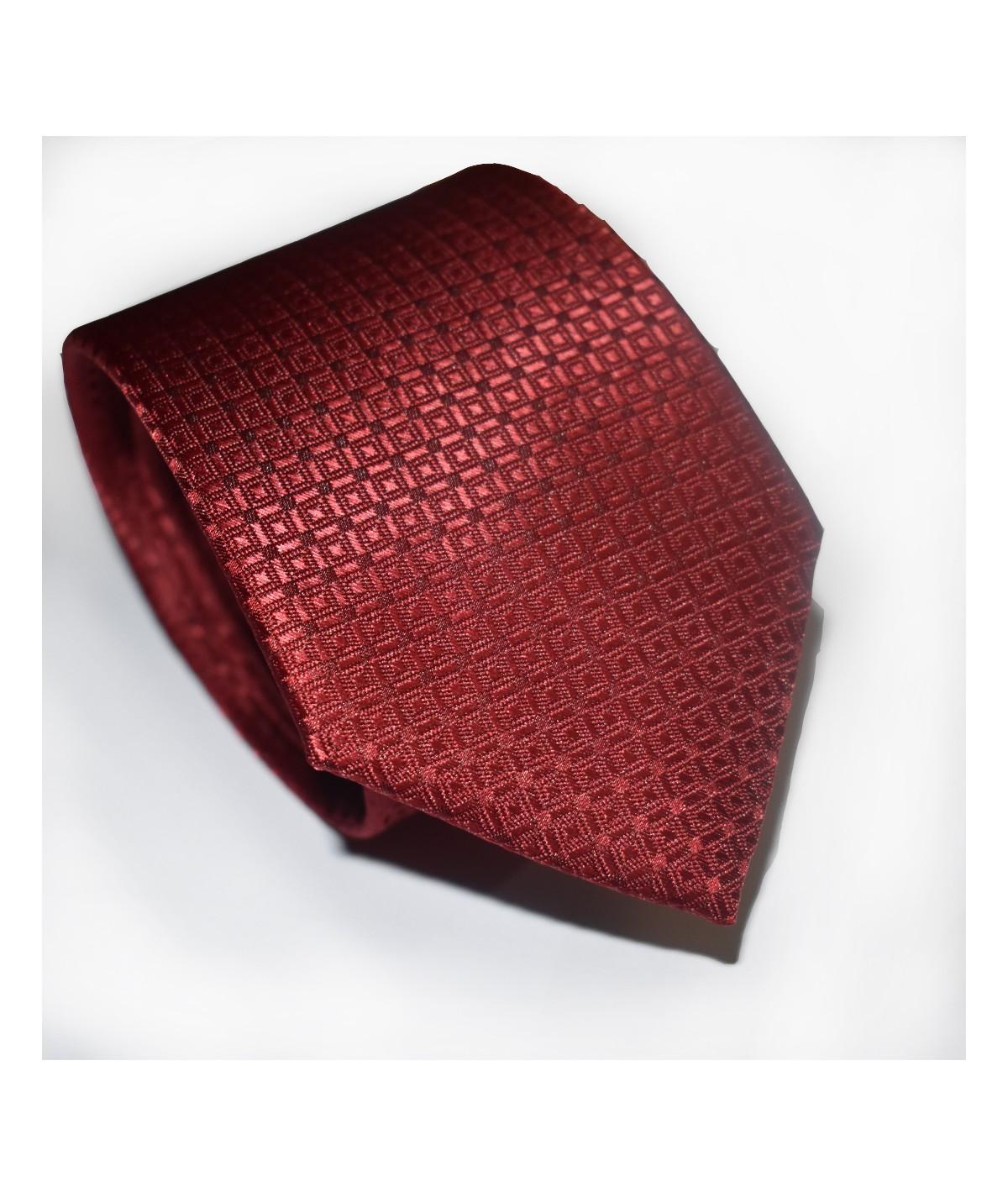 Cravate rouge à motif