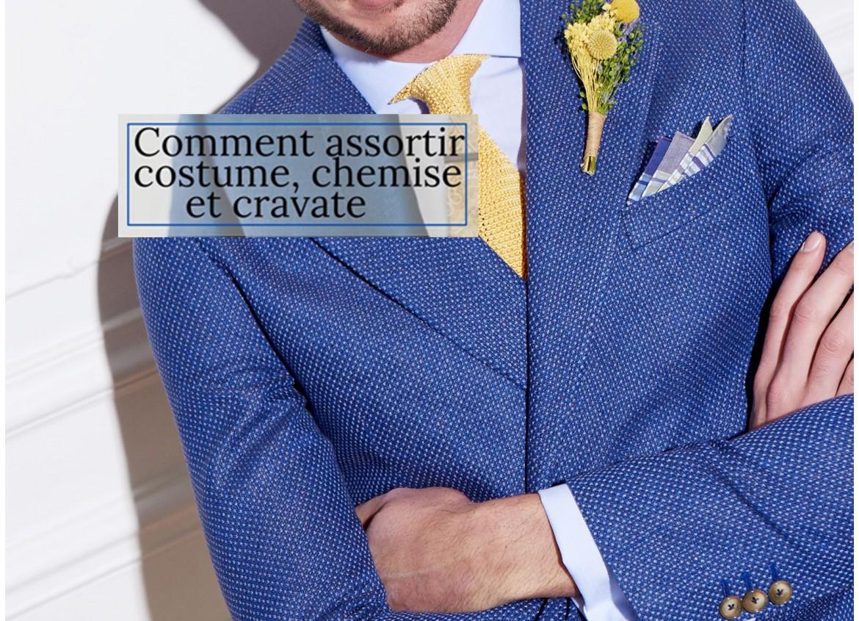 Comment assortir Costume chemise et cravate?
